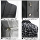 Luxury Black(ラグジュアリーブラック) ピーク衿シャイニードレスジレ WHT(ホワイト) Mサイズ - 縮小画像3