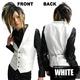 Luxury Black(ラグジュアリーブラック) ノッチ衿シャイニードレスジレ WHT(ホワイト) Sサイズ