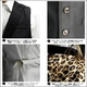 Luxury Black(ラグジュアリーブラック) ノッチ衿シャイニードレスジレ WHT(ホワイト) Mサイズ - 縮小画像2