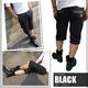 Luxury Black(ラグジュアリーブラック) メタルプレートネーム付き ハーフチノパンツ ブラック Mサイズ - 縮小画像2