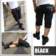 Luxury Black(ラグジュアリーブラック) メタルプレートネーム付き ハーフチノパンツ ベージュ Lサイズ - 縮小画像2