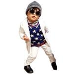 子供 スーツ 男の子 キッズスーツ 3点セット (マットホワイトスーツ(XS) 95) 子供服
