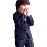 子供 スーツ 男の子 キッズスーツ 3点セット (ウィンドペンスーツNYV(XS) 95) 子供服