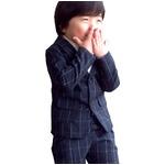 子供 スーツ 男の子 キッズスーツ 3点セット (ウィンドペンスーツNYV(XL)130) 子供服