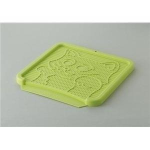 RCペット コロル 猫の砂取りマット グリーン (猫用トイレ用品) 【ペット用品】 - 拡大画像