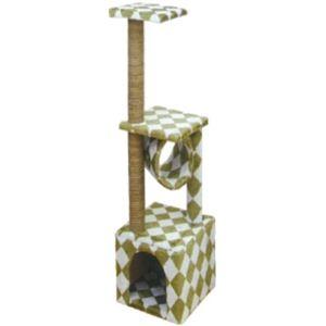 ADD.MATE(アドメイト) 猫のおあそびポール グリーン (猫用おもちゃ) 【ペット用品】 - 拡大画像