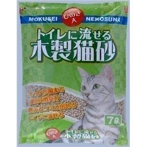 常陸化工 トイレに流せる木製猫砂 7L (猫砂) 【ペット用品】 - 拡大画像