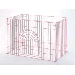 リッチェル RC ジョイントサークル4面90-60入口付 ピンク 【ペット用品】 - 拡大画像
