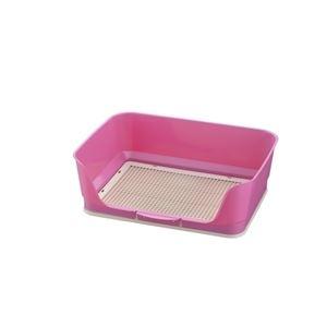 リッチェル RCしつけ用ステップ壁付きトイレ レギュラー ピンク 【ペット用品】 - 拡大画像