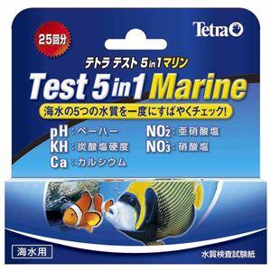 スペクトラム ブランズ ジャパン テトラ テスト 5in1 マリン試験紙(海水用)【ペット用品】【水槽用品】 - 拡大画像