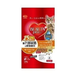 日本ペットフード ビューティープロ キャット 猫下部尿路の健康維持 15歳以上 1.4kg 【ペット用品】 - 拡大画像