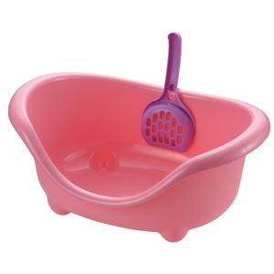 【訳あり・在庫処分】リッチェル こネコのトイレ ピンク 【ペット用品】 - 拡大画像