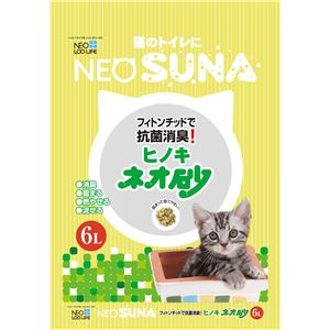 (まとめ) ネオ砂ヒノキ6L 【猫砂】【ペット用品】 【×8セット】 - 拡大画像