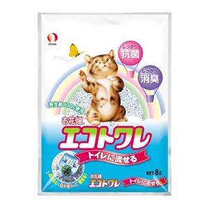 (まとめ) ペットライン ペットライン お花畑エコトワレ 8L 【ペット用品】 【×6セット】
