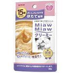 (まとめ)アイシア 15歳からのMMクリーミー ほたて風味40g (猫用・フード)【ペット用品】【×48 セット】
