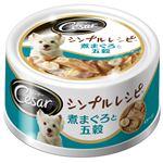 (まとめ)シーザー シンプルレシピ 煮まぐろと五穀 80g【×48セット】【ペット用品・犬用フード】