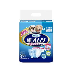 (まとめ)ペット用紙オムツ Mサイズ 28枚【×8セット】【ペット用品・犬用】