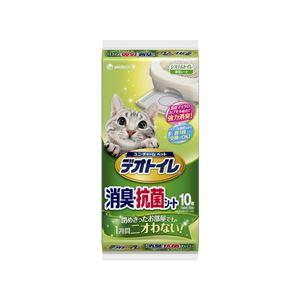 (まとめ)1週間消臭・抗菌デオトイレ 消臭・抗菌シート 10枚【×12セット】【ペット用品・猫用】