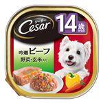 (まとめ)シーザー 14歳からの 吟選ビーフ 野菜・玄米入り 100g【×96セット】【ペット用品・犬用フード】