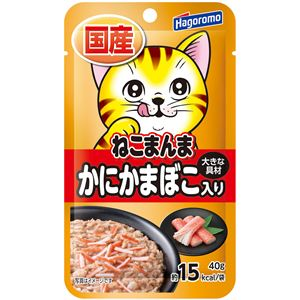 (まとめ)ねこまんまパウチ かにかまぼこ入り 40g【×72セット】【ペット用品・猫用フード】 - 拡大画像