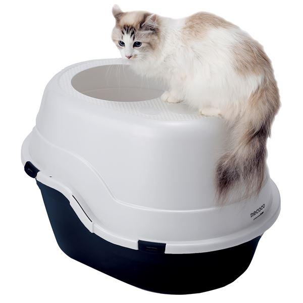 necoco 上から入る猫トイレ ブラック【ペット用品】