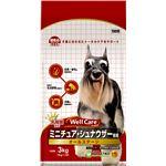 (まとめ)ウェルケア ミニチュア・シュナウザー専用 オールステージ 3kg【×4セット】【ペット用品・犬用フード】