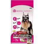 (まとめ)ウェルケア ミニチュア・シュナウザー専用 シニアステージ 3kg【×4セット】【ペット用品・犬用フード】