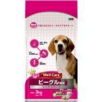 (まとめ)ウェルケア ビーグル専用 シニアステージ 3kg【×4セット】【ペット用品・犬用フード】