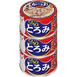 (まとめ)CIAO とろみ ささみ・かつお ホタテ味 3缶 (ペット用品・猫フード)【×15セット】