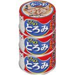 (まとめ)CIAO とろみ ささみ・かつお シラス入り 3缶 (ペット用品・猫フード)【×15セット】