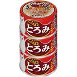 (まとめ)CIAO とろみ 焼かつお ささみ カツオ節入り 80g×3缶 (ペット用品・猫フード)【×15セット】