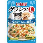 (まとめ)いなば グラシアL とりささみ チーズ・5つの野菜入り 280g (ペット用品・犬フード)【×24セット】