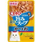 (まとめ)CIAO 旨みスープパウチ かつお 40g (ペット用品・猫フード)【×96セット】