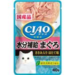 (まとめ)CIAO パウチ 水分補給 まぐろ ささみ入り ほたて味 40g (ペット用品・猫フード)【×96セット】