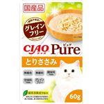 (まとめ)CIAO Pureパウチ とりささみ 60g (ペット用品・猫フード)【×96セット】