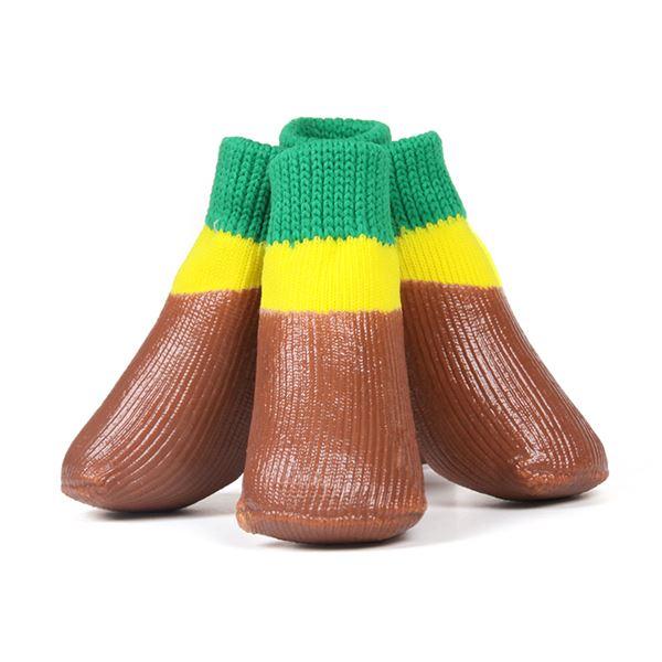 (まとめ)L'ange わんPAWプロテクト ベーシックブラウン 2号 (ペット用品・靴)【×2セット】