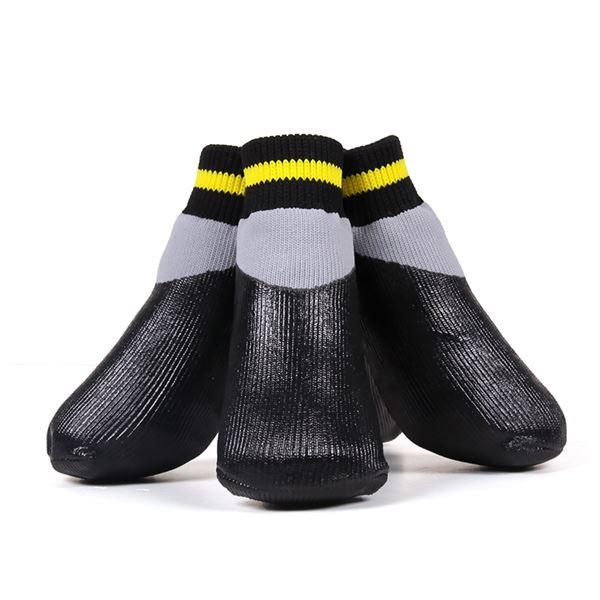 (まとめ)L'ange わんPAWプロテクト ベーシックブラック 2号 (ペット用品・靴)【×2セット】