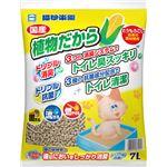 (まとめ)猫砂楽園 植物だから 7L (ペット用品)【×6セット】