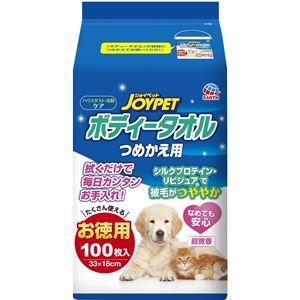(まとめ)JOYPET ボディータオルペット用 つめかえ用 100枚 (ペット用品)【×10セット】 - 拡大画像