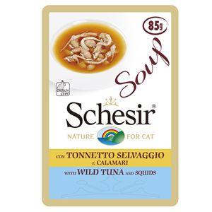 (まとめ)シシア キャット スープ グレインフリー ツナ&イカ 85g (ペット用品・猫フード)【×20セット】 - 拡大画像