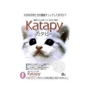 (まとめ)固まる猫の紙砂ペパーレット カタピー8L(ペット用品)【×5セット】