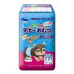 (まとめ)男の子のためのマナーおむつ 超小型犬用17枚(ペット用品)【×12セット】