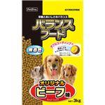 (まとめ)ペットプロバランスフード オリジナルビーフ味 3kg(ペット用品・犬フード)【×4セット】
