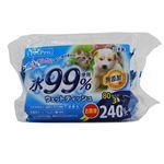 (まとめ)ペットプロウェットティッシュ 水99%使用 80枚入×3個パック(ペット用品)【×16セット】