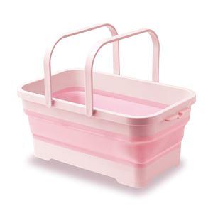 (まとめ)ソフトバスケット ピンク(ペット用品)【×14セット】 - 拡大画像