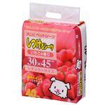 (まとめ)しつけるシーツ いちごの香りレギュラー40枚 (ペット用品) (×6セット)