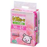 (まとめ)しつけるシーツ ピーチの香りレギュラー40枚 (ペット用品) (×6セット)