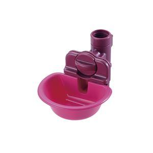 (まとめ)リッチェル ペット用ウォーターディッシュ S ピンク (ペット用品) (×5セット) - 拡大画像