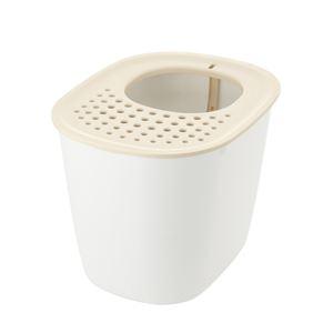 (まとめ)ラプレ 砂取りネコトイレ ホワイト (ペット用品) (×2セット) - 拡大画像