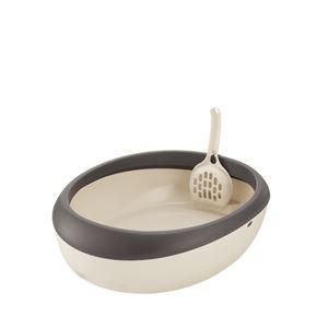 (まとめ)ラプレ ネコトイレ M ダークグレー (ペット用品) (×5セット) - 拡大画像